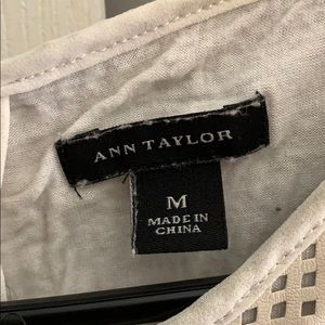 Ann Taylor Tops - Ann Taylor leather tank top